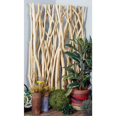 Brown Teak Wood Driftwood Screen