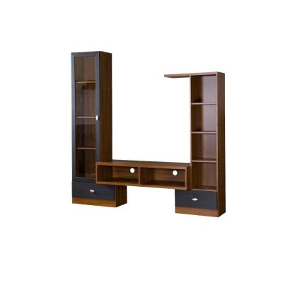 Empire 71 in. Brown Wood Entertainment Center with 2 Drawer Fits TVs Up to 44 in. with Storage Doors