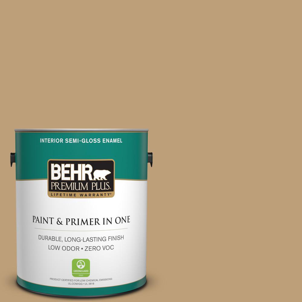 BEHR Premium Plus 1-gal. #320F-5 Mesa Zero VOC Semi-Gloss Enamel Interior Paint