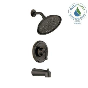 MOEN Ashville Single-Handle 1-Spray Shower Faucet with Valve in ...