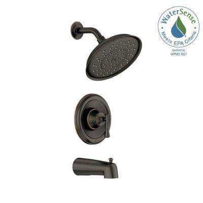 Ashville Single-Handle 1-Spray Tub and Shower Faucet with Valve in Mediterranean Bronze (Valve Included)