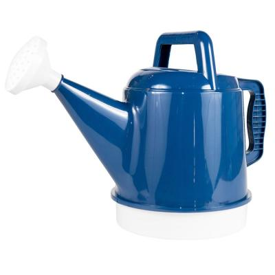 Deluxe 2.5 Gal. Classic Blue Plastic Watering Can