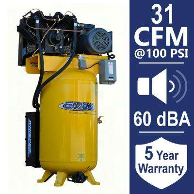 Industrial PLUS 80 Gal. 7.5 HP 3-Phase Silent Electric Air Compressor