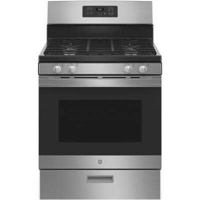 30 in. 4.8 cu. ft. Gas Range in Stainless Steel