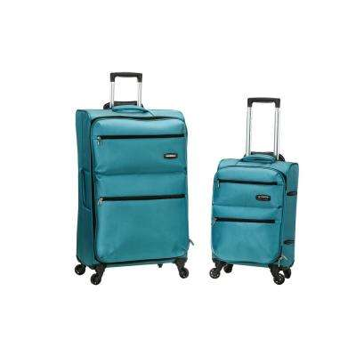 Gravity 2-Piece Light Weight Softside Luggage Set,Turquoise