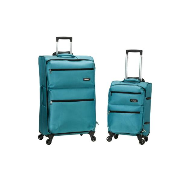 9401f7756 Rockland Gravity 2-Piece Light Weight Softside Luggage Set,Turquoise ...