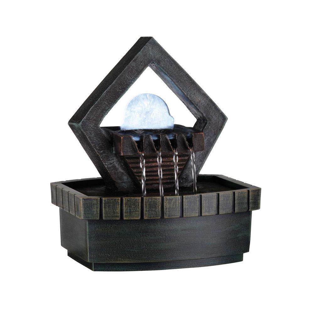 1-Light 9 in. Antique Chrome LED Fountain