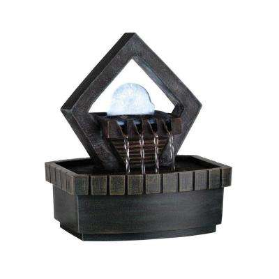 1-Light 9 in. Antique Chrome LED Fountain