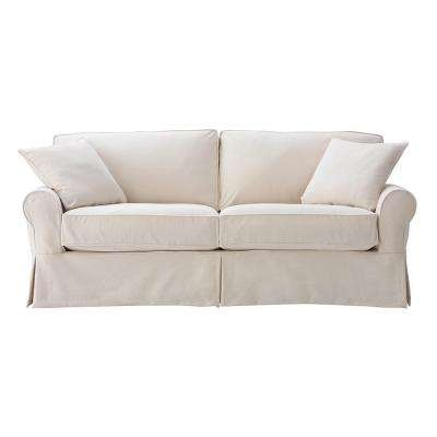 Mayfair 88 in. Classic Natural Twill Fabric Standard Sofa