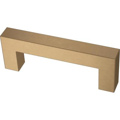 Modern Square Bar Pull 3 in. (76 mm) Champagne Bronze Drawer Pull
