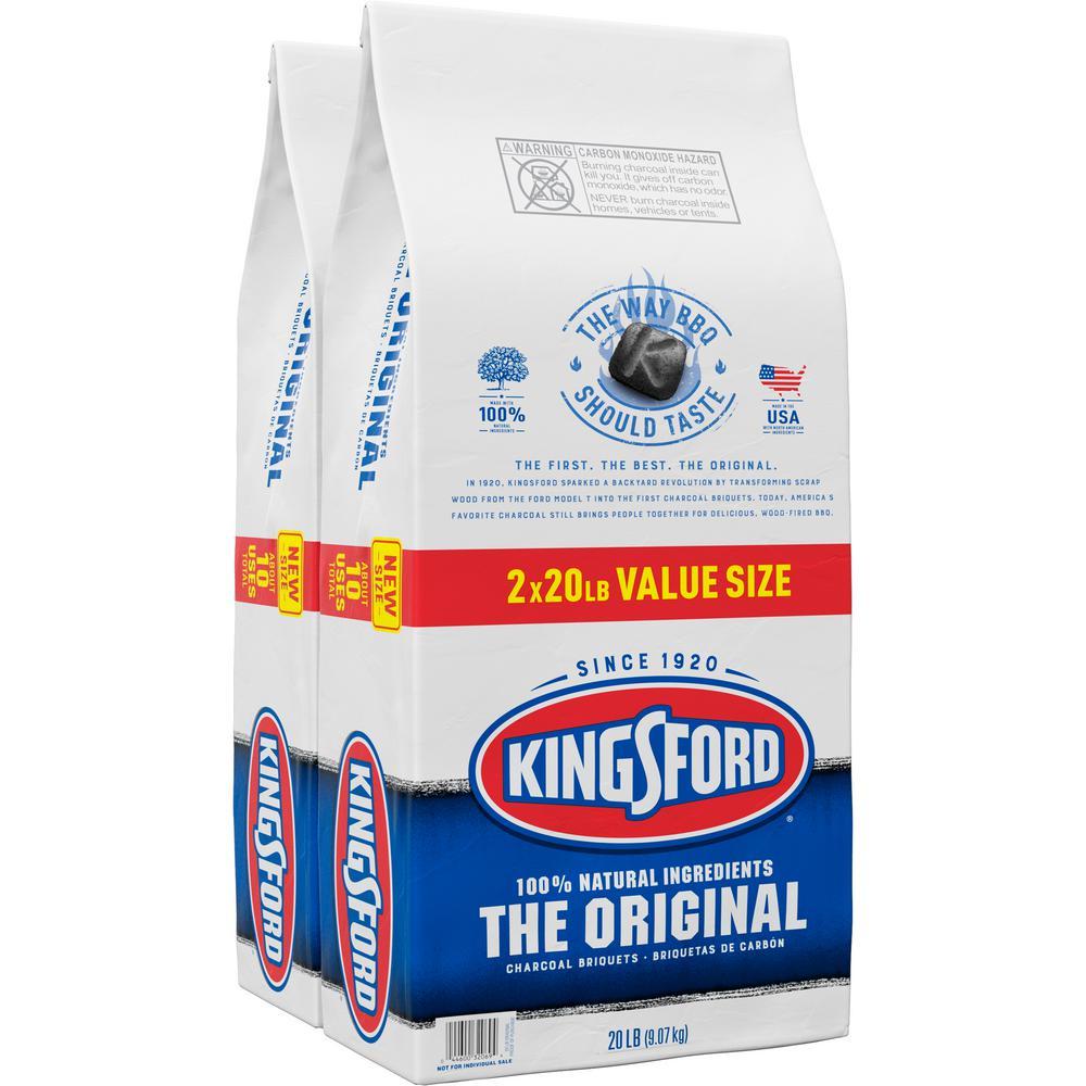 Kingsford 20 lbs. Original Charcoal Briquettes (2-Pack)
