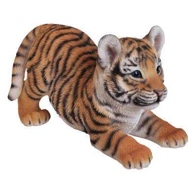 Tiger Baby Playing Statue