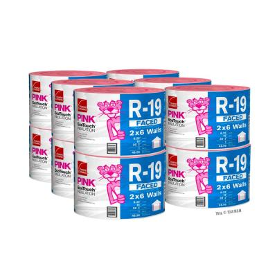 R-19 EcoTouch PINK Kraft Faced Fiberglass Insulation Continuous Roll 15 in. x 39.2 ft. (12-Rolls)