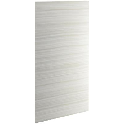 Choreograph 0.3125 in. x 48 in. x 96 in. 1-Piece Shower Wall Panel in VeinCut Dune for 96 in. Showers