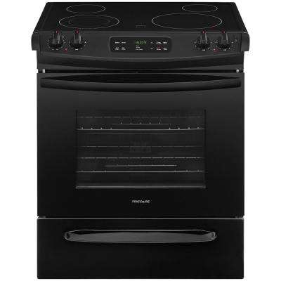 30 in. 4.6 cu. ft. Slide-In Electric Range with Self-Cleaning Oven in Black
