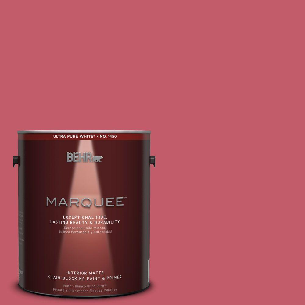 BEHR MARQUEE 1 gal. #MQ4-01 Candy Drop Matte Interior Paint and ...