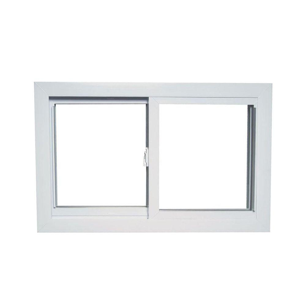 31 in. x 15 in. 70 Series Universal/Reversible Sliding White Vinyl