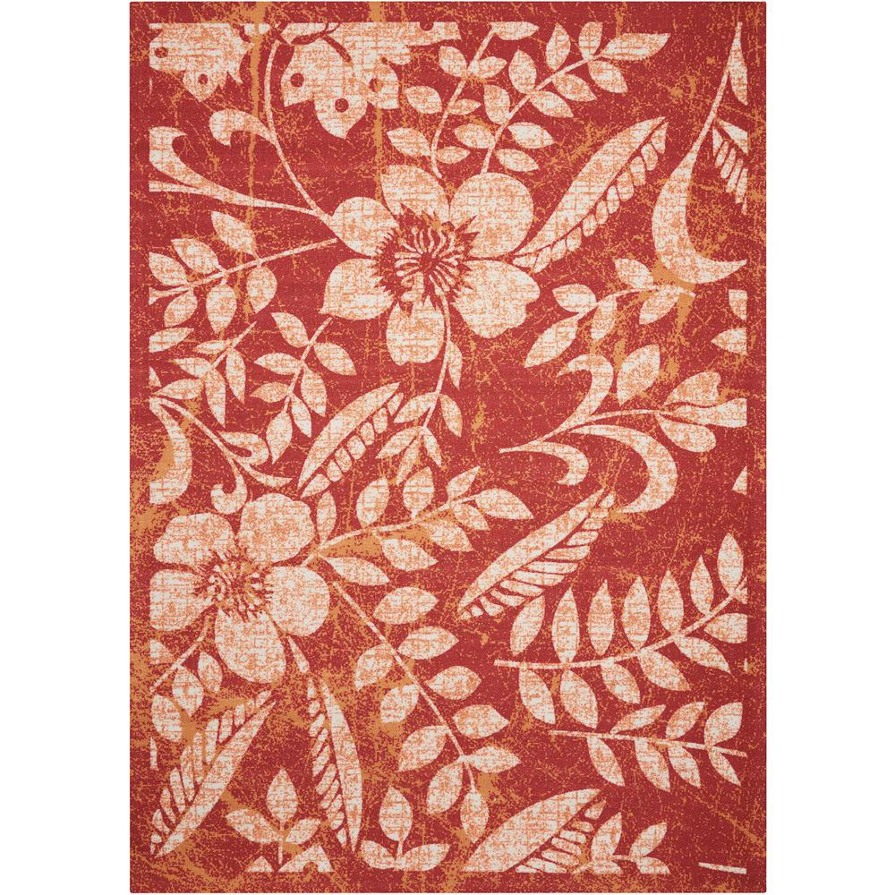 Nourison Home And Garden Red 10 Ft X 13 Ft Indoor