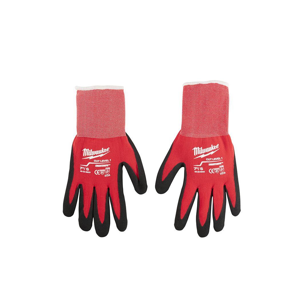 Medium Red Nitrile Dipped Work Gloves