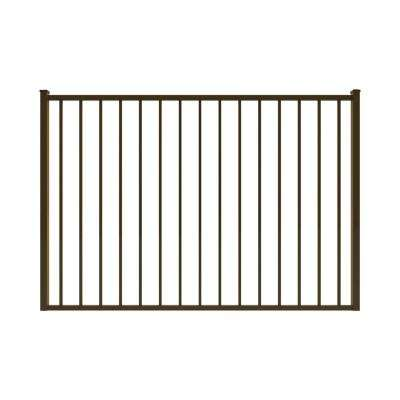 Newtown 6 ft. W x 4 ft. H Bronze Aluminum Pre-Assembled Fence Gate