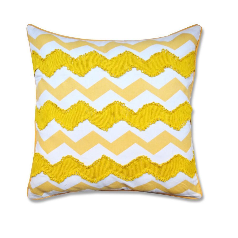 A1HC Embroidered Chevron Decorative Pillow A1GEO007D