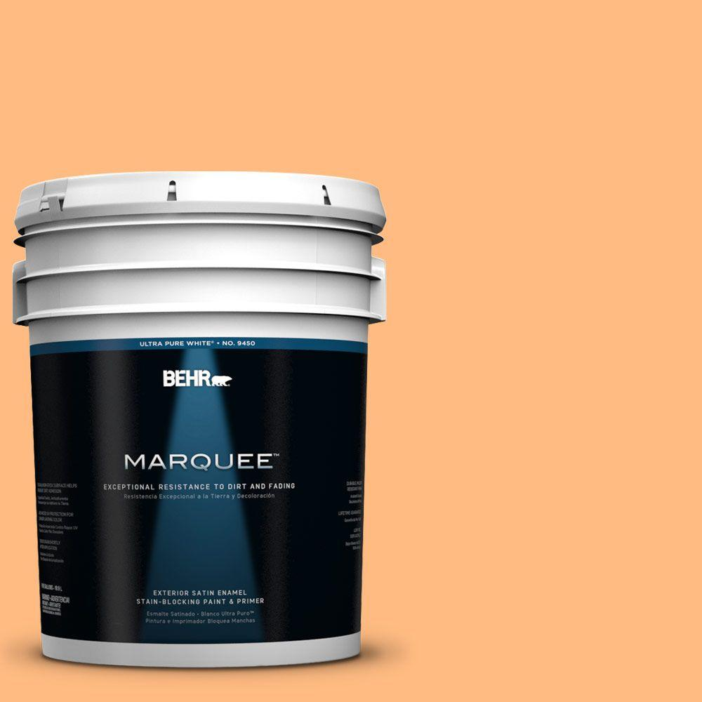 BEHR MARQUEE 5-gal. #270B-4 Apricot Flower Satin Enamel Exterior Paint