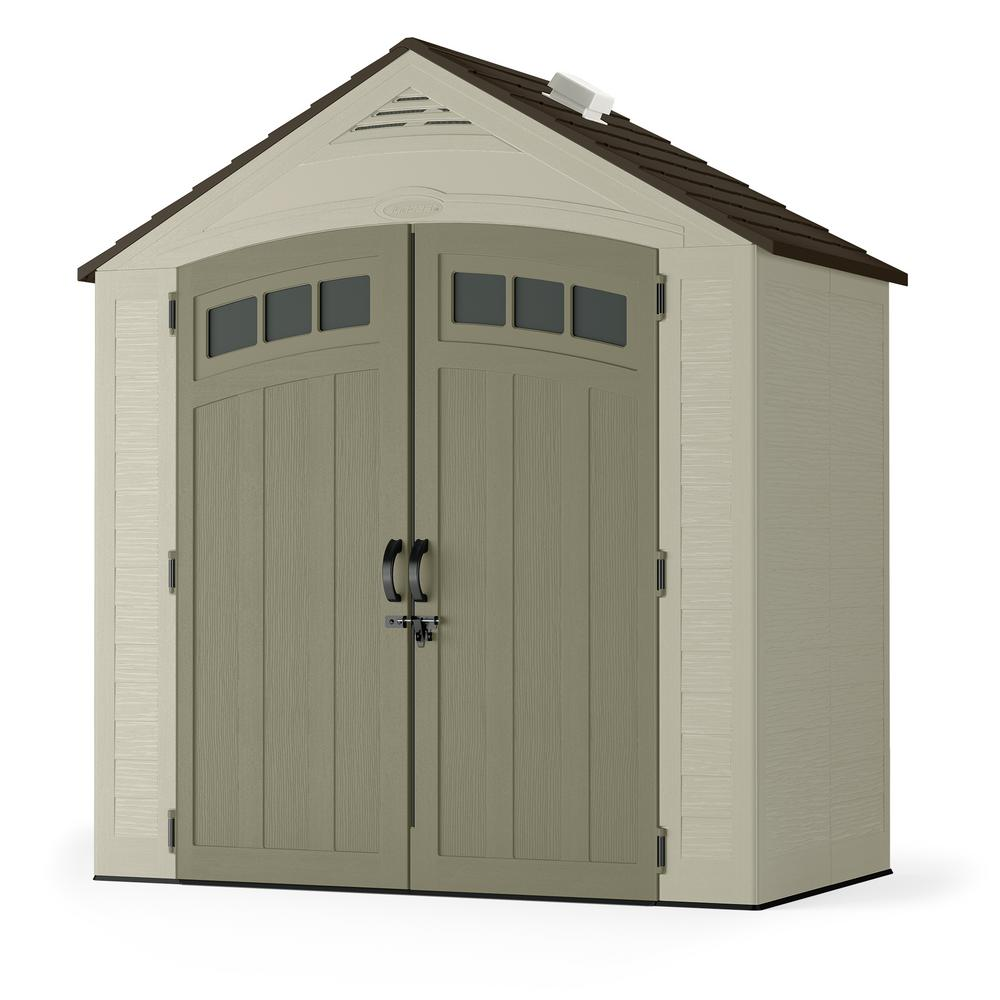 Exclusive Suncast Vista 7 ft. 4 in. x 4 ft. 1 in. Resin Storage Shed