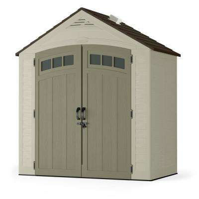 Vista 7 ft. 4 in. x 4 ft. 1 in. Resin Storage Shed
