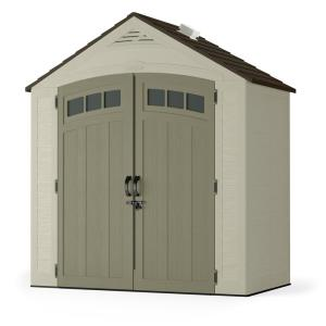 Suncast Vista 7 ft. 4 inch x 4 ft. 1 inch Resin Storage Shed by Suncast