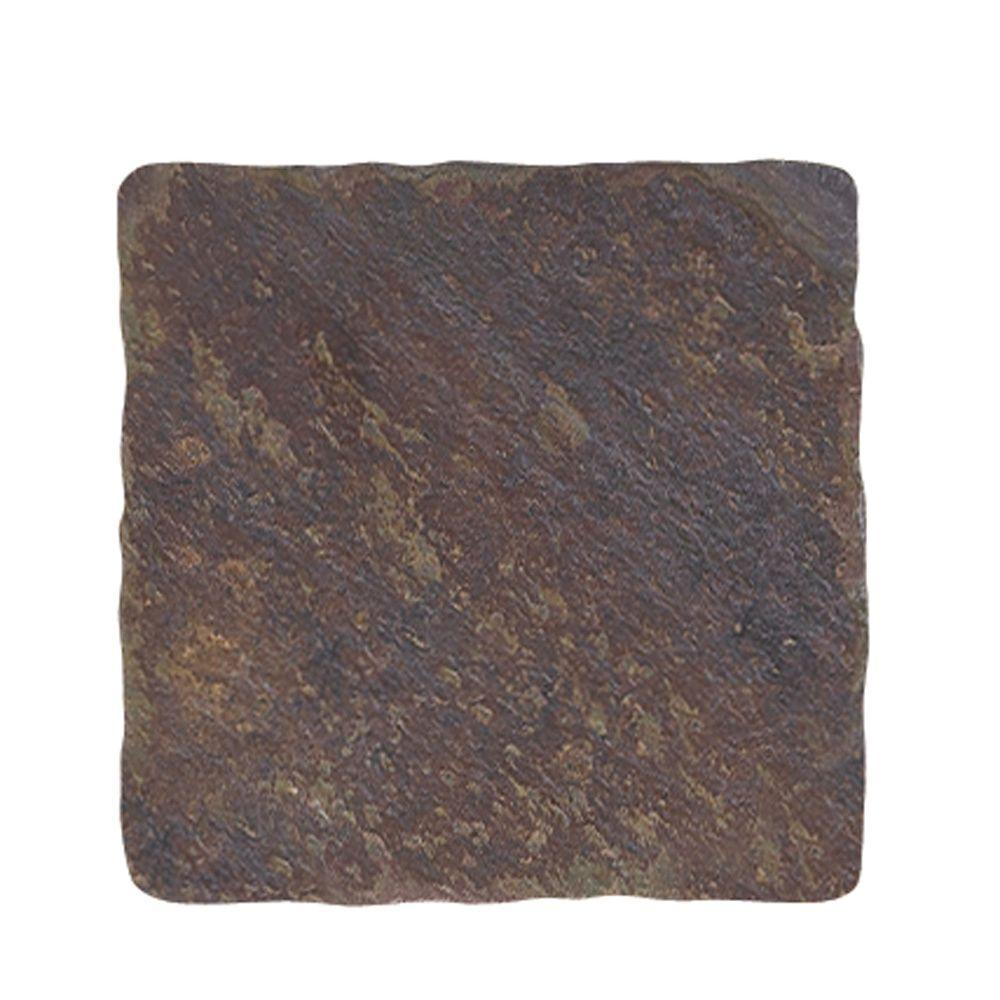 Jeffrey Court Indian 4 in. x 4 in. Slate Floor and Wall Tile
