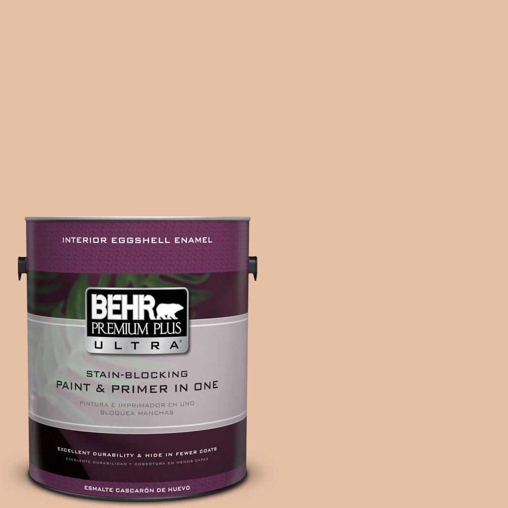 BEHR Premium Plus Ultra 1-gal. #BIC-01 Fabulous Fawn Eggshell Enamel Interior Paint