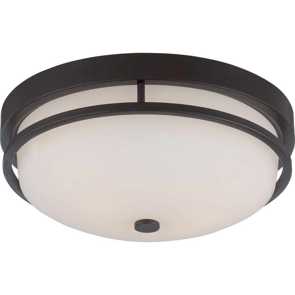 amax lighting 2625. Glomar Klarissa 2-Light Sudbury Bronze Flush Mount Amax Lighting 2625 M