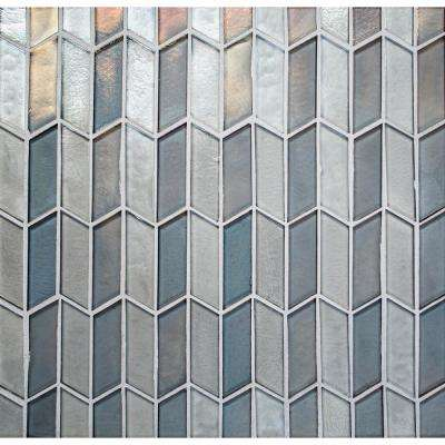 La Vista Opalescent 11 in. x 11-1/2 in. x 6.35 mm Glass Mosaic Wall Tile (0.89 sq. ft. / piece)