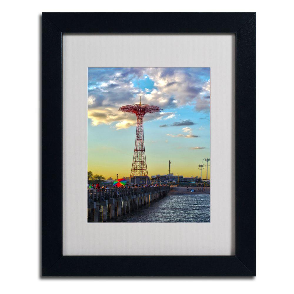 null 11 in. x 14 in. Coney Island Matted Framed Art
