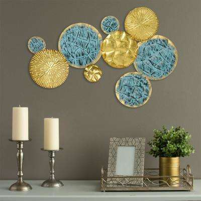 Jewels of the Sea Metal Plates Wall Decor