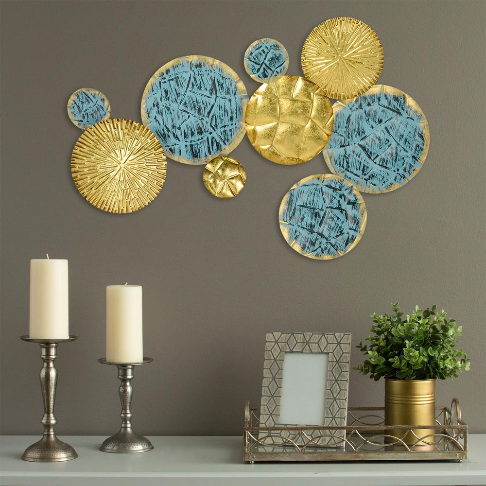 Stratton Home Decor Textured Plates Metal Wall Art ~ Stratton home decor jewels of the sea metal plates wall