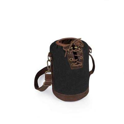 Black and Brown Insulated Growler Tote