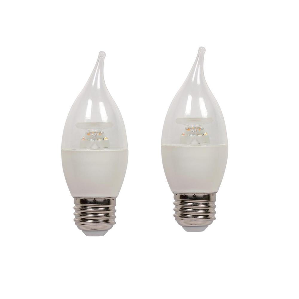 60W Equivalent Soft White C13 LED Light Bulb (2-Pack)