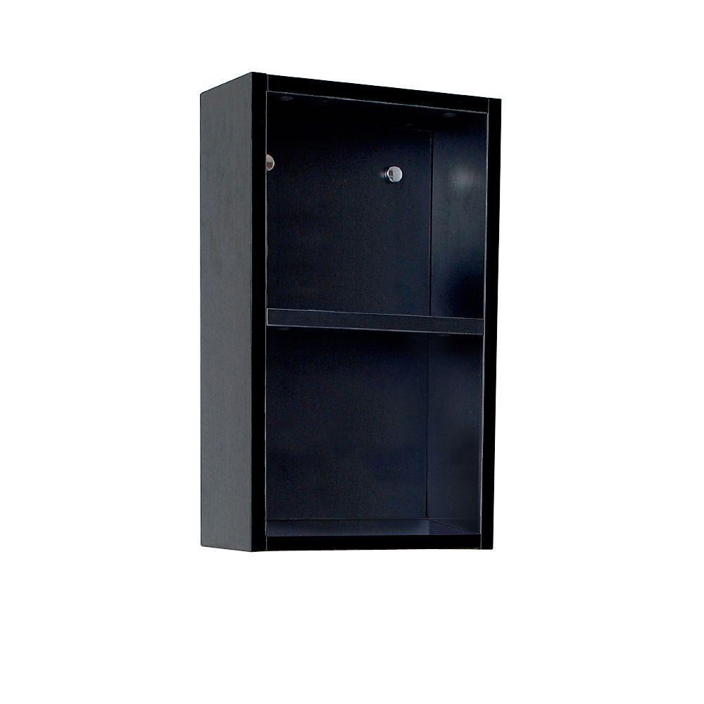 12 in. W Linen Storage Cabinet in Black