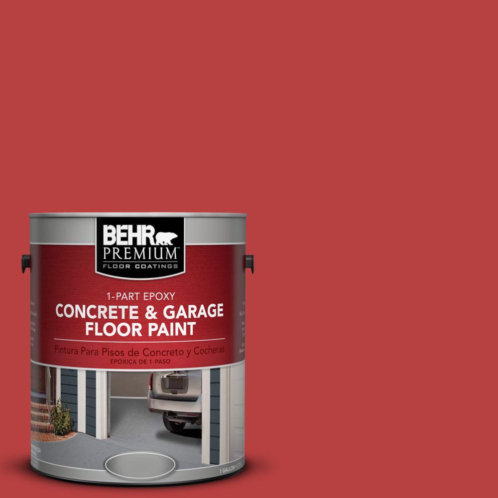 1 gal. #OSHA-5 Osha Safety RED 1-Part Epoxy Concrete and Garage Floor Paint