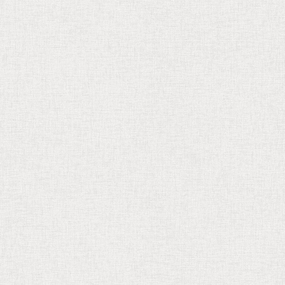 Zack Uni Off-White Faux Linen Off-White Wallpaper Sample