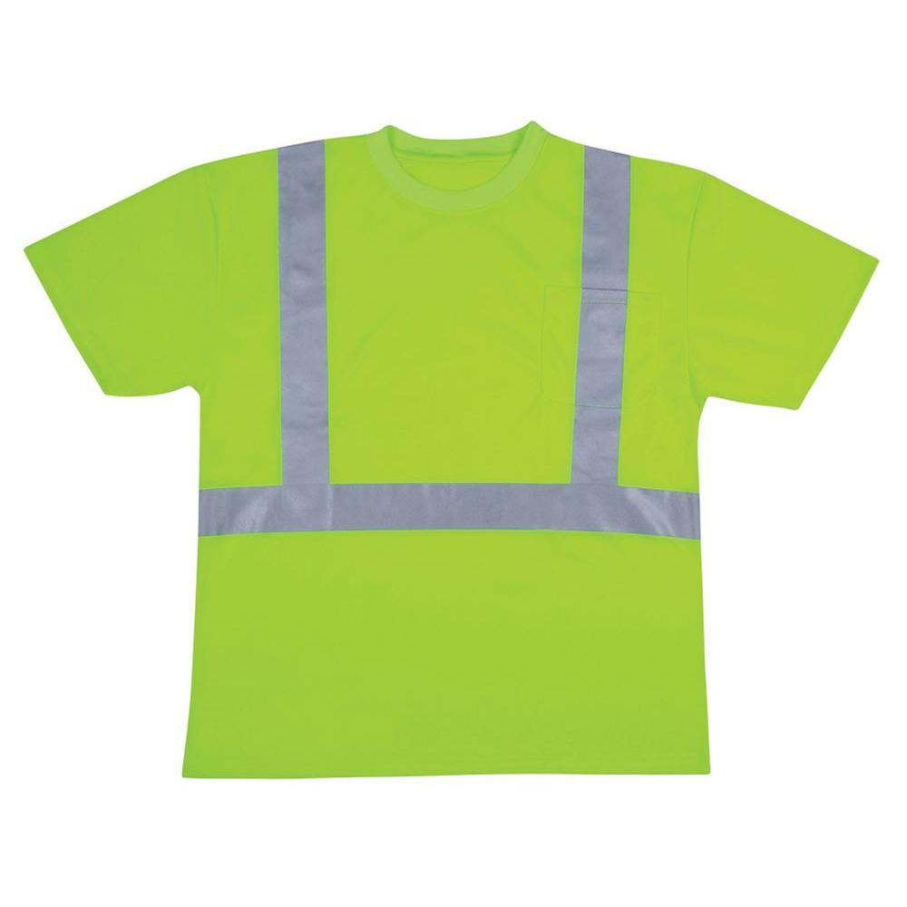 Cordova Cordova Large High Visibility Class 2 Safety Vest T-Shirt, Adult Unisex, High Visibility Lime Green