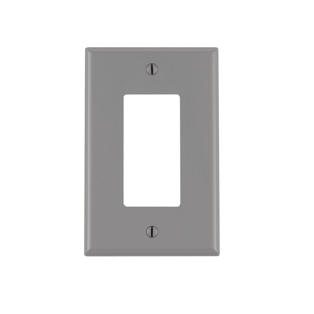 Leviton Decora 1 Gang Midway Nylon Wall Plate Gray