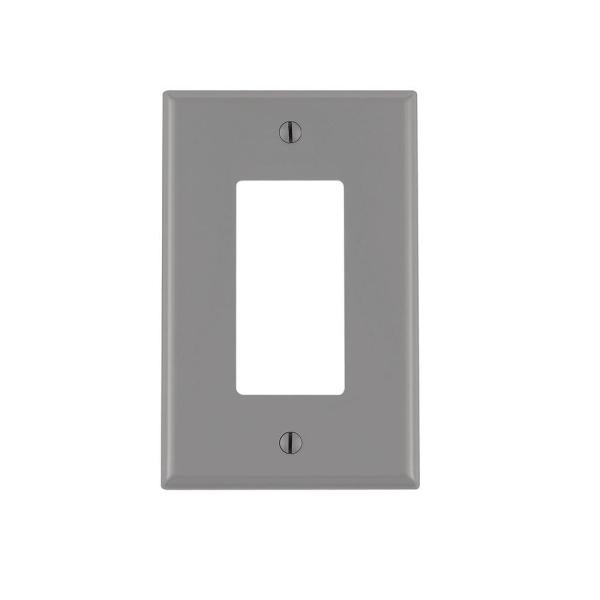 Gray 1-Gang Decorator/Rocker Wall Plate (1-Pack)