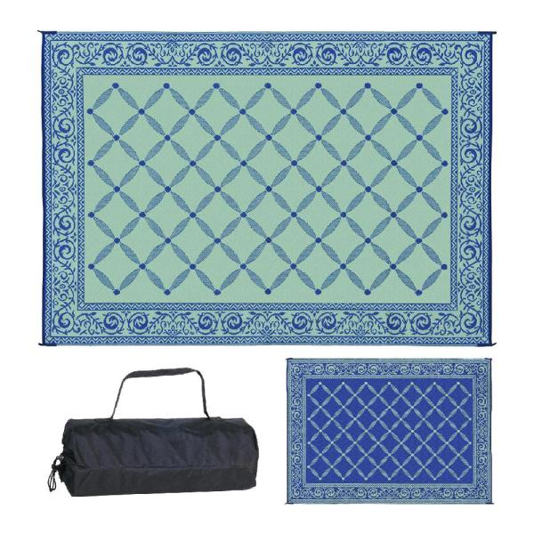 9 ft. x 12 ft. Reversible Mat - Classic Blue/Light-Green