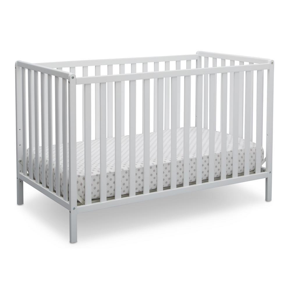 Delta Children Bianca White Heartland 4-in-1 Convertible Crib-555140 ...