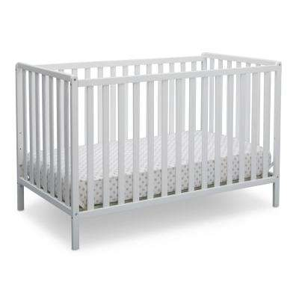 Bianca White Heartland 4-in-1 Convertible Crib