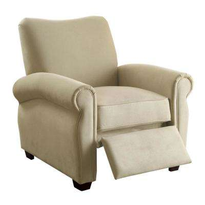 Marella Beige Flannelette Push Back Recliner Chair