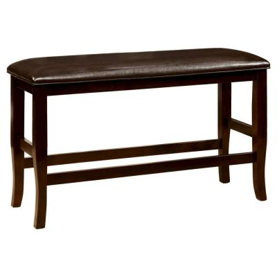 Swanson 26 in. Espresso Leatherette Counter Height Bench
