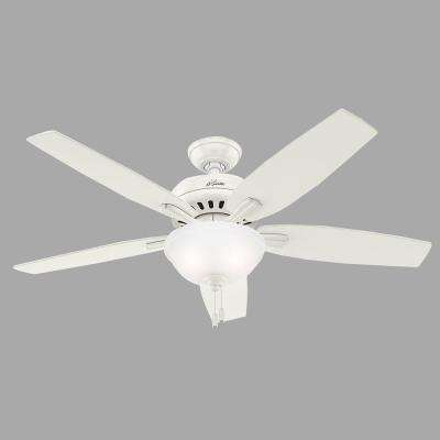 Newsome 52 in. Indoor Fresh White Bowl Light Kit Ceiling Fan